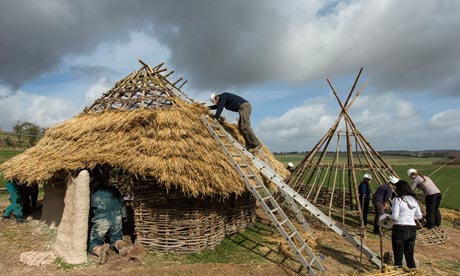 Neolithic homes reconstructed for Stonehenge visitor centre