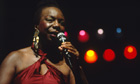 Nina Simone performing in Paris