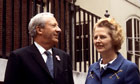 Edward Heath and Margaret Thatcher