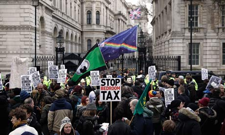 Protest against the government's bedroom tax
