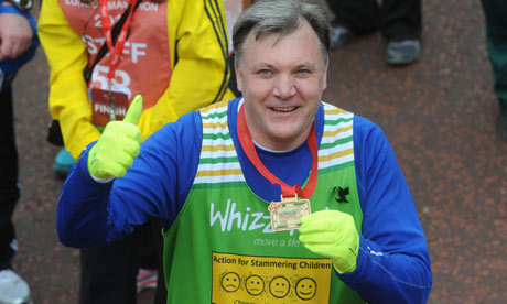 Ed Balls at the 2013 London marathon