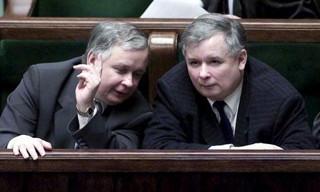Lech Kaczynski and Jaroslaw Kaczynski