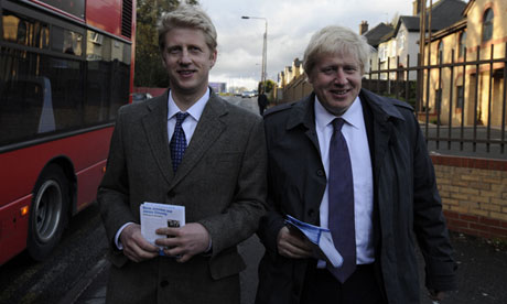 Boris Johnson with his brother Jo Johnson