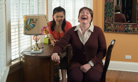 julia sweeney with daughter mulan