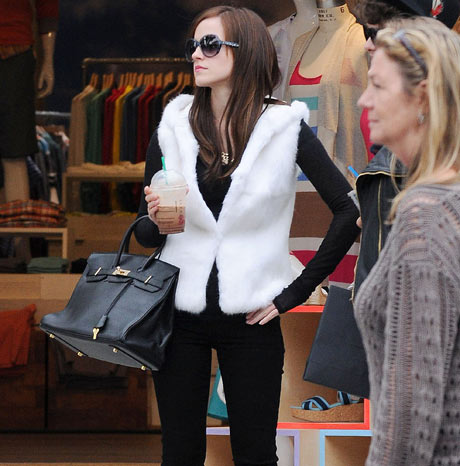 Emma Watson: on the set of The Bling Ring.