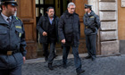 Rev. Franco Decaminada leaves Italian financial police barrack