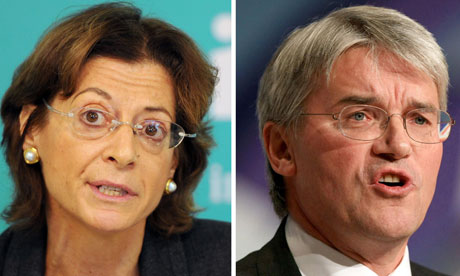 IPCC chair Deborah Glass and Conservative MP Andrew Mitchell