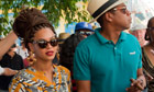 Beyonc&eacute; and Jay-Z walking in Havana