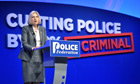 Theresa May at the Police Federation conference in 2012