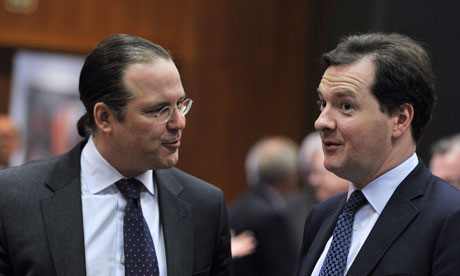 The Swedish finance minister, Anders Borg, and George Osborne