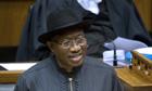 Nigerian president Goodluck Jonathan