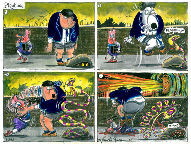 Martin Rowson on Alex Salmond and Nigel Farage  cartoon