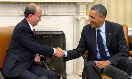 Thein Sein becomes first Burmese president to visit US since 1966
