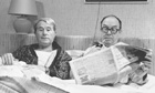 Ernie Wise and Eric Morecambe in bed  ? typical Braben subversion. Photograph: Thames Television