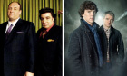 Shows such as The Sopranos (let) and Sherlock now feature in surveys of great TV. Photograph: Rex Features/BBC/Hartswood Films
