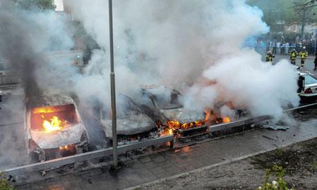 Stockholm riots Sweden