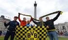 Borussia Dortmund fans at Traflagar Square
