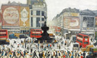 LS Lowry Piccadilly Circus 1960