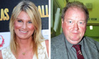 File photos of Sally Bercow and Lord McAlpine