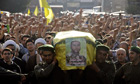 Members of Lebanon's Hezbollah carry coffin