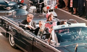 John F Kennedy in Dallas in 1963.