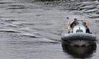Police patrol the River Erne