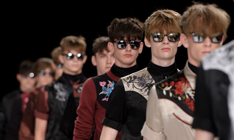 Models wear designs from the Topman Design