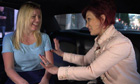 Sharon Osbourne in back of car with Emily on Hollywood Me