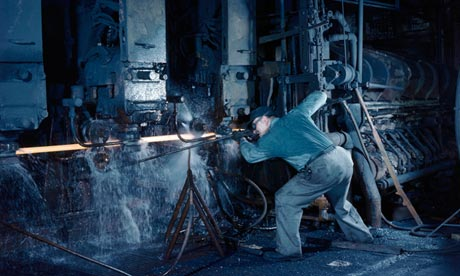 A steelworker in Youngstown, Ohio