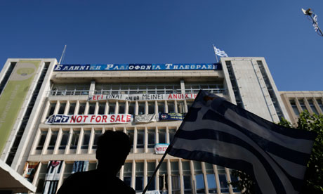 Greek coalition in emergency talks after shutting down state broadcaster ERT...