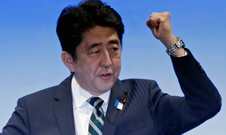 Japanese leader defends economic policy during London speech...