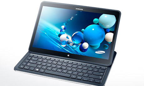 Samsung's Ativ Book Q, unveiled on Thursday, can run on Windows 8