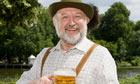 German man with beer