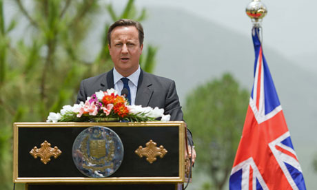 David Cameron in Islamabad