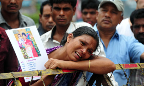 Protest over Savar Rana Plaza building collapse