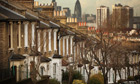 Row of houses in London