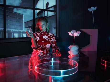 Miuccia Prada models for Love magazine's 10th-anniversary issue