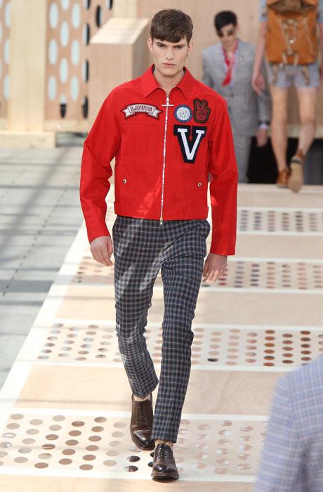 Menswear: Louis Vuitton red jacket