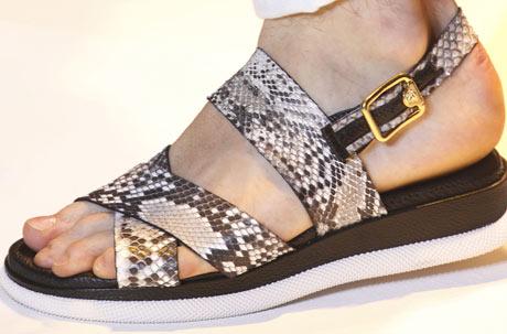 Menswear: Versace's gladiator sandals