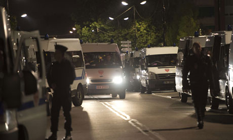 French riot police in Trappes