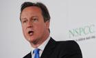 David Cameron at NSPCC offices