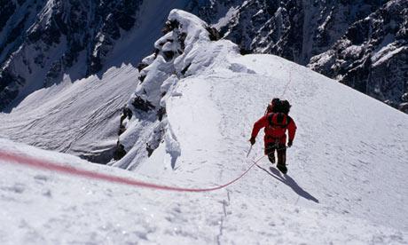 A climber on Nanga Parbat
