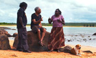 Gilberto Gil joins an aboriginal community in Australia