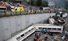 Spain train crash scene