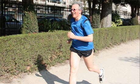 Sir Jon Cunliffe running the Brussels Sport Relief Mile in 2012.