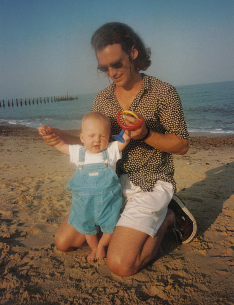 Mark Mills with son Gus