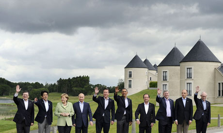 Leaders at the G8 summit near Enniskillen in Northern Ireland in June.