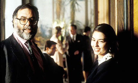 Sofia Coppola on the set of The Godfather III with her father  Francis Ford Coppola
