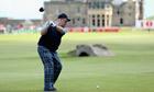 Alex Salmond plays golf at St Andrews, Scotland