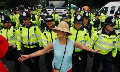 Anti-fracking protests in Balcombe